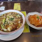 横浜飯店 - 料理写真:今週のランチ「野菜ラーメンと半天津丼 1,000円」
