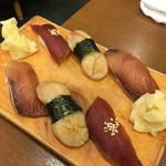 いろは寿司 - 漬け3カン 鮪 ハマチ 帆立