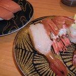 6408702 - 20110109大起水産岸和田店 本マグロ中トロ@368、天然ぼたんえび@525