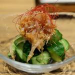 博多もつ鍋 幸 - 胡瓜の梅水晶和え