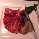 叙々苑 - 焼肉ランチAの焼物アップ