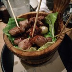 国分寺CHUBO はっぴ - 桶焼き イベリコ豚 中落ちカルビ