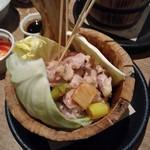 国分寺CHUBO はっぴ - 桶焼き鳥 鶏とろ(肩小肉)