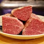 北新地 牛寶 - ヒレの肉塊