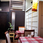 SOBA Café さらざん - 奥側のテーブル