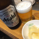 都々井 - 瓶ビール(500円)2017年3月