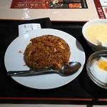 南国亭 - 日替わり定食(角煮炒飯+杏仁豆腐or小ラーメン)