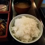 我が家の味 しゅう - ご飯とお味噌汁