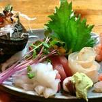 山海川料理 なるせ - お刺身の盛り合わせ