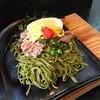 孝蔵 - 料理写真:瓦そば ミスジ (茶そば、錦糸卵、海苔、紅葉おろし、レモン) 1,100円