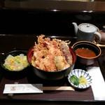Tempurahisago - 春の海老祭り天丼(1,520円)