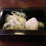 和楽庵 - 薬味です。