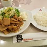 BooBo Cafe - 豚のしょうが焼き2017.3