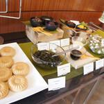 ロビー・ラウンジ - 抹茶パフェが作れるミニ和菓子バー