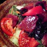 海坊主 - 刺身とワカメのサラダ