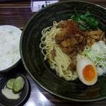 ラーメン人生JET - あぶり豚そば700円+ライス(昼は50円)
