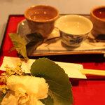 フローリスト KT - 夕暮きき酒セット(3種類のお酒)
