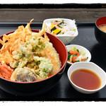 鳥居原ふれあいの館 - かき揚げ丼定食
