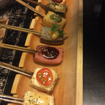 64105247 - 豆腐と生麩の七味七彩田楽