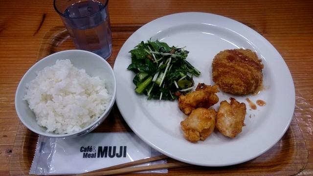カフェ&ミール ムジ - 「江戸菜とひじきのサラダ」「鶏むね
