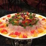 64110199 - 茨城県近海で採れた白身魚のカルパッチョ