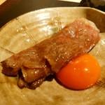 64112942 - 和牛焼きすき焼き 山梨県中村農場 八ヶ岳卵 一口御飯
