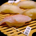 うまい鮨勘 ゆとろぎ - 金目鯛など白身です。