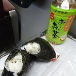 サンドショップシバタ - ピリ辛唐揚げ(150円)と梅(期間限定価格60円)