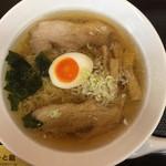 らーめん処 あーと館 - 佐野ラーメン490円。(10周年記念価格です)