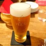 オー・ペシェ・グルマン - ビール700円+税
