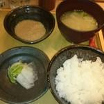 五穀 - ご飯と味噌汁、とろろ追加(2017.3)