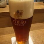 64117956 - 生ビール琥珀エビス
