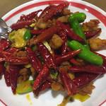 鐘楼 - 鶏肉の激辛炒め