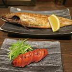 白銀屋 - 炙り明太+塩鯖