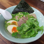 麺工房 武 - 味玉塩ラーメン(880円)+パクチー(100円)