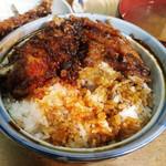 天ぷら 中山 - メシに染み込んだタレがまた美味い♪