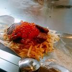 てっぱん食堂 - カープ優勝記念の牛サーロインステーキのいくらのせ