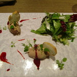64125148 - 鶏白レバーのムース 木苺ソース
