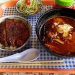 ラーメン ビギン - 料理写真:ラーメン&タレかつ丼セット
