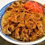 吉野家 - 紅生姜に七味たっぷり