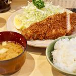 丸一 - 料理写真:ロースかつ定食 1100円