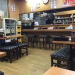 新さっぽろらーめん 龍竜 - カウンター席、テーブル席ございます店内です。