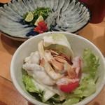 ふぐよし 総本店 - 【銀福セット】の「ふぐサラダ」