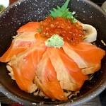 Awajishimatokurae - 海の親子丼 980円→カード掲示880円