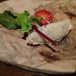 64138349 - お通し、ポテトサラダに鱈の塩漬け