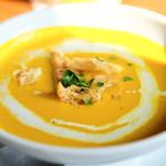 64141352 - 本日のスープ かぼちゃ&カレー味