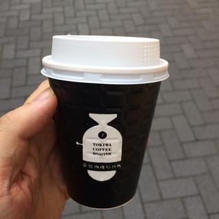 常盤珈琲焙煎所 北浦和店 - 本日のハンドドリップコーヒー。 税込340円。 美味し。