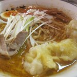 麺屋えびす - 冬季限定ラーメン 辛味噌えびワンタン麺
