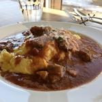 ファームレストラン クオーレ - 羊のオムハヤシ