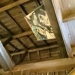 味奈登庵 - お店の天井を見上げたら凧が。